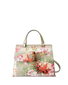 Daily Blooms Small Floral-Print Frame Bag, Gold by Gucci at Neiman Marcus.