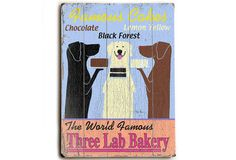Three Lab Bakery Wood Sign on OKL today