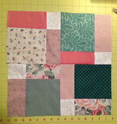 Disappearing nine patch, block one