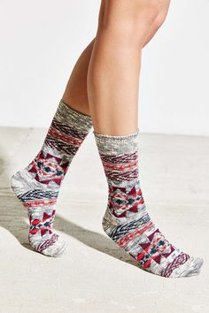 Patterned Slouchy Crew Sock