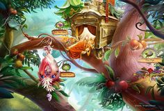 pixie hollow tree house - Google Search