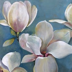 Magnolia I Painting Print on Wrapped Canvas