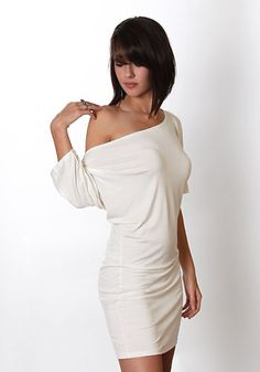 off the shoulder dresses are soo hot! Wish this came in black....