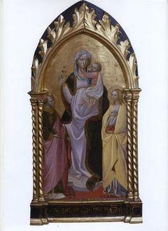 Giovanni di Marco, detto Giovanni dal Ponte (Firenze, 1385-1437), Madonna col Bambino in trono tra i santi Lorenzo e Anastasia .