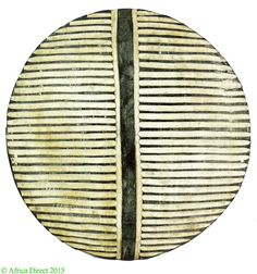 Zulu Shield Round Painted South Africa 22 Inches