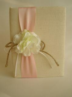 Handmade Photo Album  Rustic White Hydrangeas  Pink by CoutureLife, $24.99