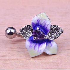 Flower Belly Button Ring Piercing Item Type: Body Jewelry Fine or Fashion: Fashion Style: Trendy Body Jewelry Type: Navel & Bell Button Rings Material: Rhinestone Metals Type: Stainless Steel Shape\pa