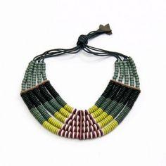 colar cleopatra verde by luisa herculano