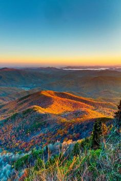 The great smoky mountains is a national park on the Tennessee - North Carolina border. It's a national park since 1934. The name is commonly shortened to Smokies. / via Gramspiration