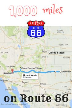 Our road trip journey from Texas to California - over 1000 miles on Route 66! | US Road trip | Route 66 Road Trip Map