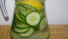Jak si připravit nápoj na hubnutí   recept Detox, Cucumber, Food And Drink, Low Carb, Drinks, Fitness, Syrup, Drinking, Beverages