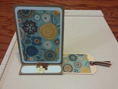 Easel card with slide out decorative tag by Raz & Dazzle Ink
