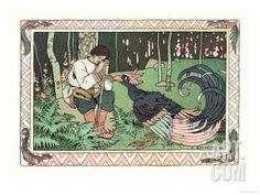 Peacock Art Print by Ivan Bilibin at Art.com