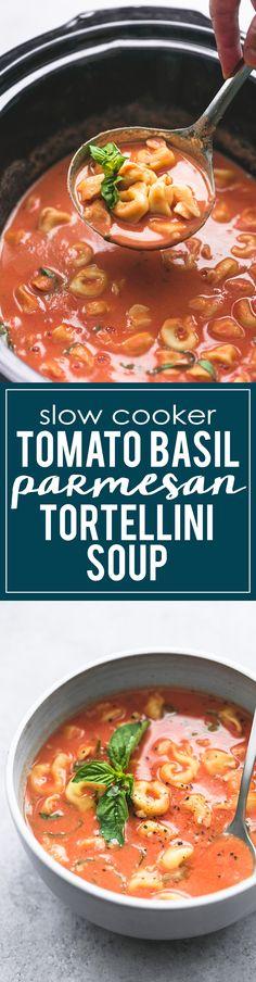Slow Cooker Tomato Basil Parmesan Soup   lecremedelacrumb.com