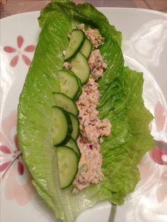 Tuna wrap in lettuce