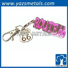 Route 66 metal keychain