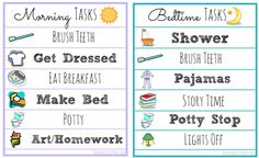 FREE Morning and Bedtime Routine Printable Lists (Perfect for Kids!) - Raining Hot Coupons