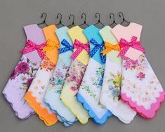 Hanky Dress -- Vintage style printed flower handkerchief - -Wedding gift