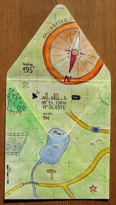 Geocache envelope (Mail art assignment for Coursera online course)