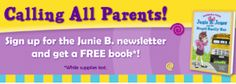 Book, Activity Pages   More when You Join Junie B. Jones Reading Club