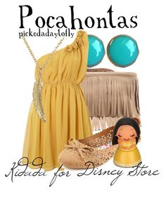 """Pocahontas"" by pickedadaytofly ❤ liked on Polyvore featuring B-Low the Belt, Sodamix, Charlotte Russe, Disney, pocahontas and disney"