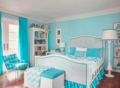 Tiffany blue girls room                                                                                                                                                      More
