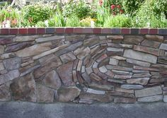 Who said rocks or bricks need to be level?  How boring.  Wave effect here.