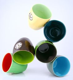Coffee cup with snap handles-comes in a set (handles not shown in this picture-in another of my pins)