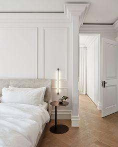 Clean Bedroom, Home Bedroom, Bedroom Decor, Narrow Bedroom, Bedroom Wall, Dream Home Design, Home Interior Design, Minimalist Bedroom, New Room
