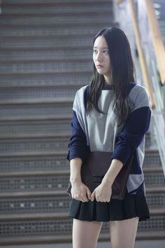 f(x) Krystal. I like her shirt and skirt put together