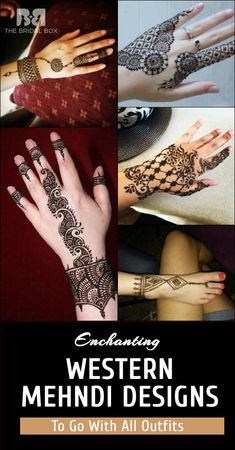 9 Enchanting Western Mehndi Designs To Go With All Outfits
