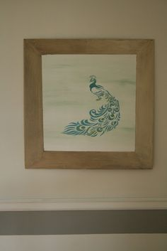 Peacock Artwork & My Favorite Room - Primitive and Proper