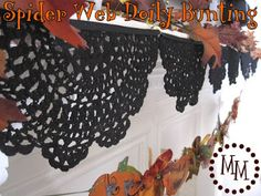 The Scrap Shoppe: Spider Web Doily Bunting