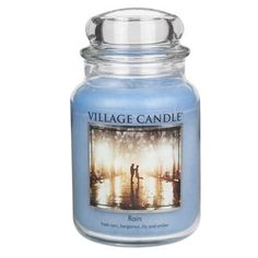 Village Candle 'Rain' Premium Fragranced Candle Jar. A Village Candle Rain Premium Fragranced Candle with a delicate floral fragrance with a hint of Summer!