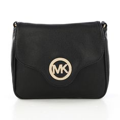 Michael Kors Fulton Pebbled Large Black Crossbody Bags.More than 60% Off, I enjoy these bags.It's pretty cool (: JUST CLICK IMAGE~ | See more about michael kors, bags and outlets.