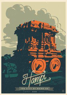 Travel Postcards Posters of Karntaka India