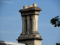 Birstall: Gothic revival chimney stack with drunken chimney pots Roof Tops, Brickwork, Old World, United Kingdom, Gothic, Romantic, Architecture, Drawings, Building
