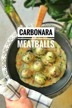 Carbonara Sauce Meatballs