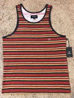 Brixton Clove Striped Tank Top Men's Small, NEW With The Tags $33.95 #Brixton #tankTop