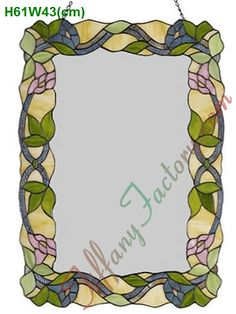 flickr photos stained glass miror | China Stained Glass Mirror (MIT000004) - China Tiffany Style, Stained ...