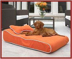 Outdoor Dog Bed by Bowsers Pet Products. (breathable, water & fade resistant fabric)
