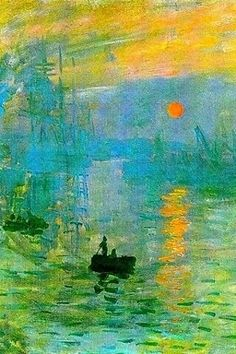 Impression Sunrise, Claude Monet I think this was my fav one I saw in Venice? The thing with monet tho, and internet. Claude Monet, Monet Paintings, Landscape Paintings, Artwork Paintings, Indian Paintings, Abstract Paintings, Painting Art, Edward Moran, Artist Monet