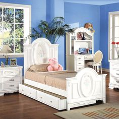 flora panel youth bedroom set