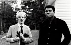 awesomepeoplehangingouttogether:    Andy Warhol and Muhammad Ali