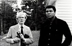 Andy Warhol and Muhammad Ali