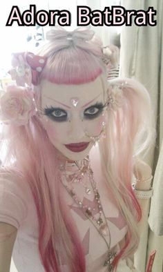 We need to do the RococoPunk thing, because I wanna look like her! Adora Batbrat, Goth Beauty, Gothic Girls, Macabre, Alternative Fashion, Gothic Fashion, Pagan, My Hair, Halloween Face Makeup