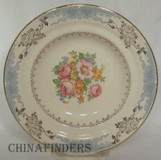 Homer Laughlin China Royal Splendor Pattern B1346 Round Butter Dish