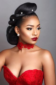 Charis Hair presents 'Retro to Afro' Hair Inspiration Best Bridal Makeup, Bridal Makeup Looks, Wedding Makeup, Hair Wedding, Black Bridal Makeup, Wedding Braids, Wedding Dresses, My Hairstyle, Afro Hairstyles
