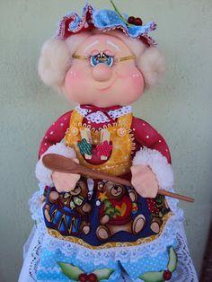 Vidro de biscoito Vovó Noel
