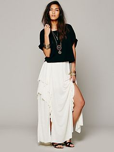 Free People Never Fade Maxi Skirt
